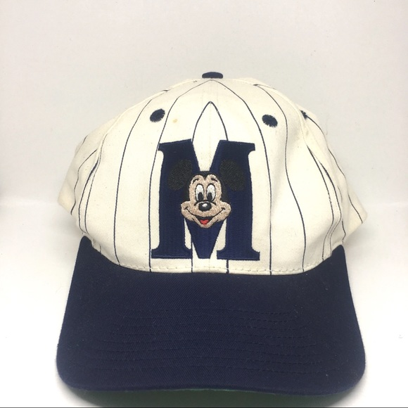 goofy hat co Other - Vintage Mickey Mouse Pinstripe SnapBack Hat 8f52214a4f2a